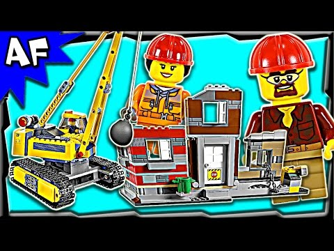 Lego City Construction DEMOLITION SITE 60076 Stop Motion Build Review