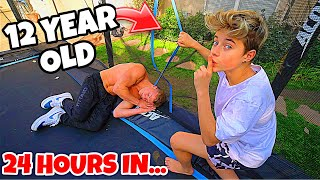LAST TO LEAVE TRAMPOLINE VS GAVIN MAGNUS WINS $10,000!