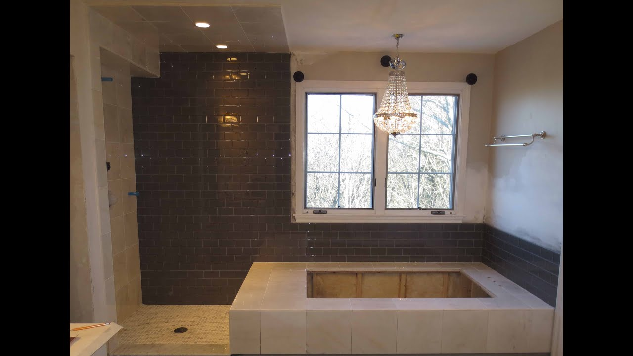 Marble Tile And Glass Tile Bathroom Time Lapse Youtube