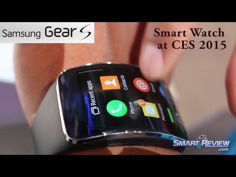 CES 2015 | Samsung Gear S - Smart Watch Demonstration | Built-in 3G | SmartReview.com