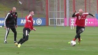 Arjen Robben dribbling vs Diego Contento  FC Bayer