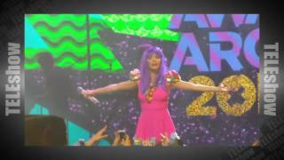 Lali y Benjamin Amadeo en los Kids Choice Awards