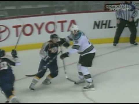 Joe Thornton vs Scott Nichol Nov 17, 2008 Video