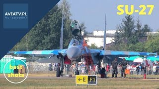 Su-27 - dynamic display - Air Show Radom 2013