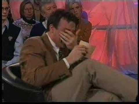 Dutch TV presenter wont stop laughing