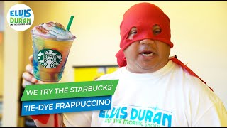 Elvis Tries Starbucks' Tie-Dye Frappuccino  | Elvis Duran Exclusive