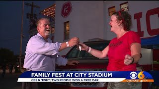 2 people win used cars at Kickers Family Fest
