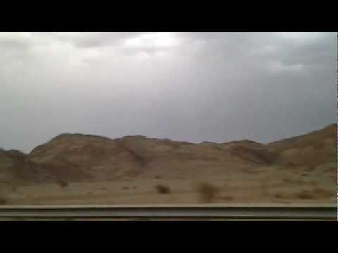 Lightning Clouds On Makkah-madinah Al Hijaz Mountains Highway.10.04.2012 video