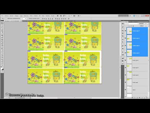 Tutorial Photoshop: Tarjetas o etiquetas escolares infantiles