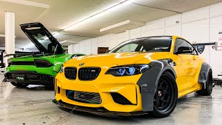 ALEX CHOI'S BMW M2 WIDEBODY DRIFT BUILD! *UPGRADED TURBOS 600 HP*