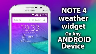 download lagu Note 4 Weather Widget On Any Android Device gratis