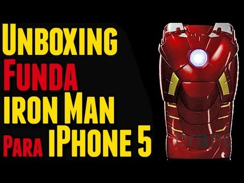 Unboxing   Funda Iron Man Para iPhone 5 MARVEL Iron Man Mark VII