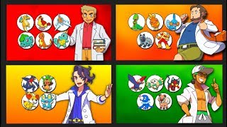 Every Pokemon owned by Every Professor in Pokemon (Professor Oak to Professor Kukui)