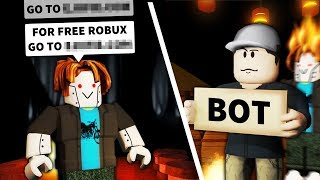 I pretended to be a Roblox SCAM BOT... and get voted off