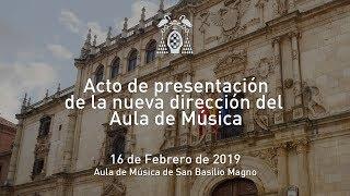 Acto de presentación de la nueva dirección del Aula de Música · 16/02/2019