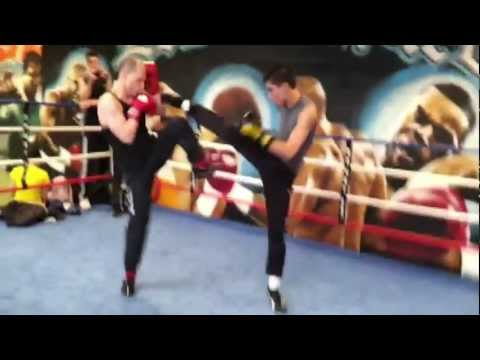 French boxing - USF Boxe Francaise - Section Jeunes - Savate Fight - Entrainement Image 1