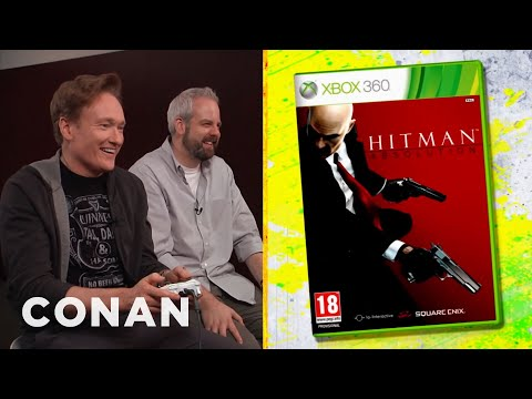 "Conan O'Brien Reviews ""Hitman: Absolution"" - Clueless Gamer - CONAN on TBS"