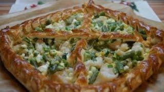 Быстрый рыбный пирог с зеленым луком | Просто вкусно
