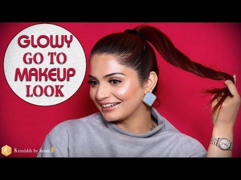 Glowy Makeup Look   Step by Step Tutorial Video for Glowy Skin   Krushhh by Konica