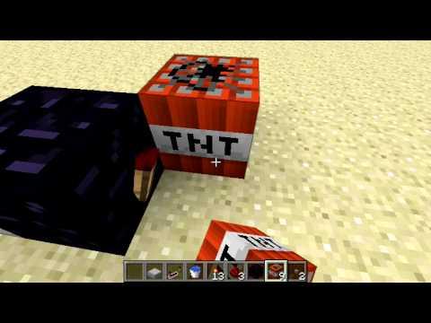 Minecraft 1.0.0 пушка стреляющая динамитом.
