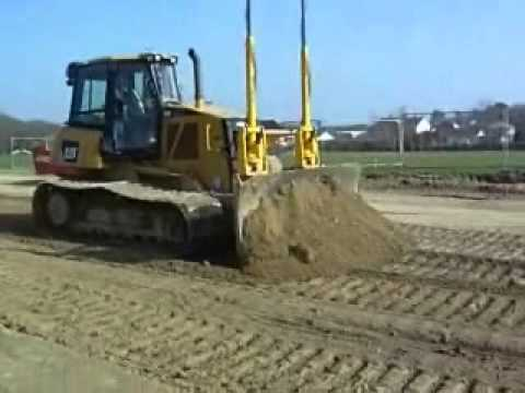 Cat D6k With Trimble Laser Leveling Equipment Trimming