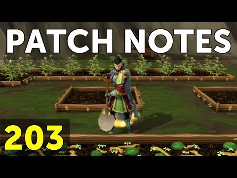 RuneScape Patch Notes #203 - 22nd January 2018