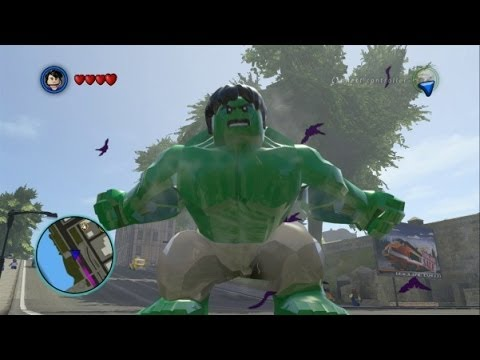 LEGO Marvel Super Heroes - Hulk and Abomination Free Roam Gameplay