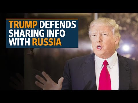 Trump defends sharing info with Russia to 'help fight terrorism'
