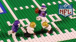 NFL: Stefon Diggs performs the Minnesota Miracle   Lego Game Highlights
