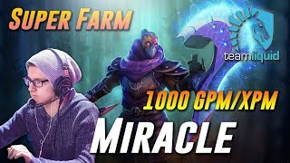 Miracle AM Super Farm 1k GPM/XPM - Dota 2 Pro MMR Gameplay