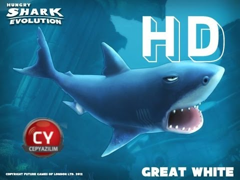 Hungry Shark Evolution - Great White Shark (Gameplay)