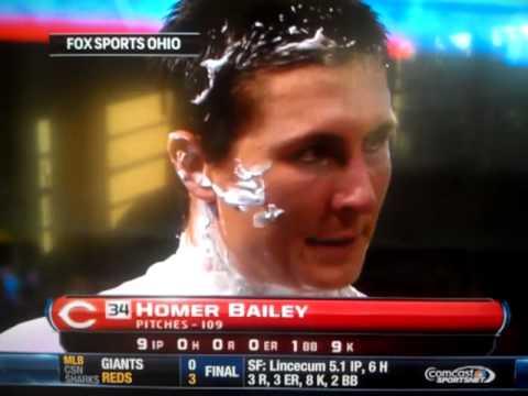 Homer Bailey cursing #rolemodel no no hitter