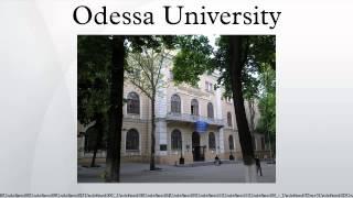 Odessa national university i i mechnikov