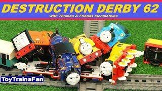 Trackmaster Destruction Derby #62  - Thomas & Friends toy Crashes. Tomek i Przyjaciele zderzenia