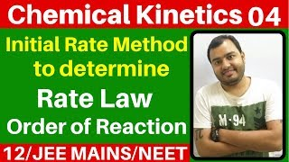 Chemical Kinetics 04 : Initial Rate Method to Determine Order of Reaction n Rate Law JEE MAINS/NEET