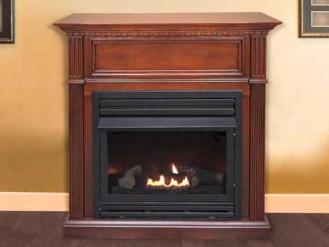 Pleasant Hearth Vent-Free Intermediate Gas Fireplace - VFF ...