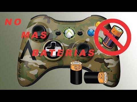 Usar Control Xbox 360 sin baterias!!!! Paso a Paso