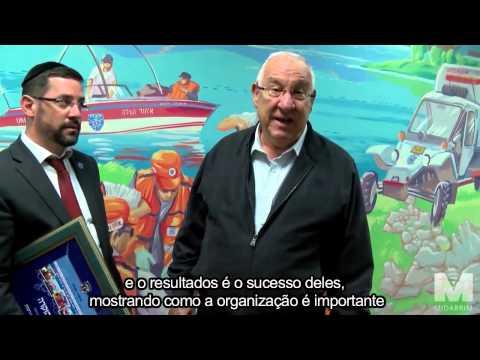 Presidente Eleito Sr. Reuven Rivlin visita a sede do Ichud Hatzalah