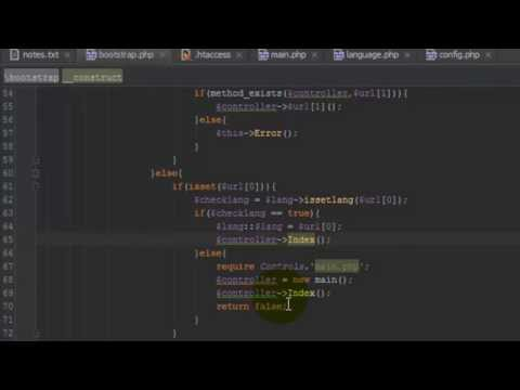 PHP CMS LESSON 1 - MVC STRUCTURE