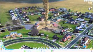 Let´s Play SimCity 2013 (Closed BETA) [German] [Full-HD] Wirbelsturm in Aktion -Hurricane in Action