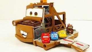 Disney Cars Toys Mater Transforming Secret Base Playset for Kids Tomica Japanese toy