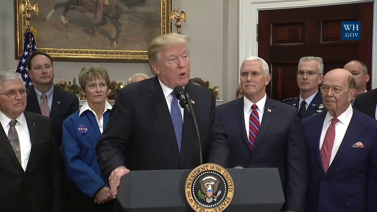 Trump directs NASA to shoot for the moon and beyond