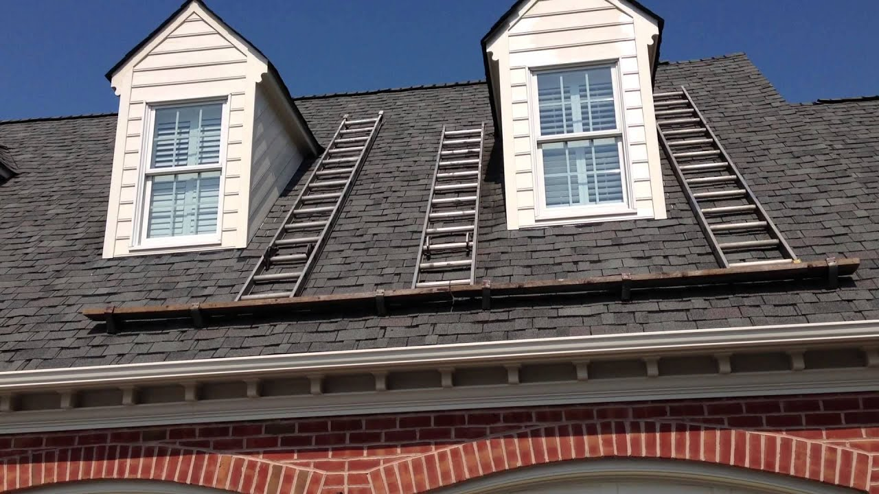 painting dormer window siding at Leebs 5-30-13 - YouTube