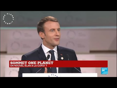 REPLAY - One Planet Summit : le discours d''Emmanuel Macron