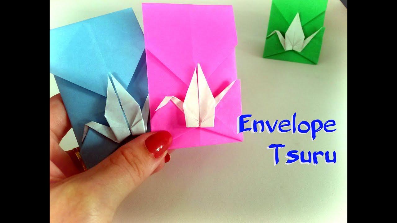 Como Fazer Origami Envelope Tsuru Grou Passo A Passo
