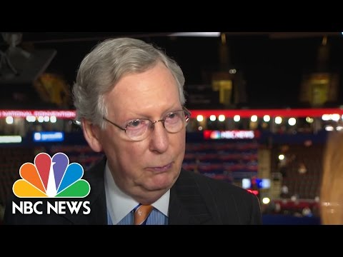Mitch McConnell on Donald Trump: 'He's Beginning To Be A Real Presidential Candidate' | NBC News