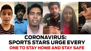 Coronavirus: Sports stars urge everyone to stay home and stay safe