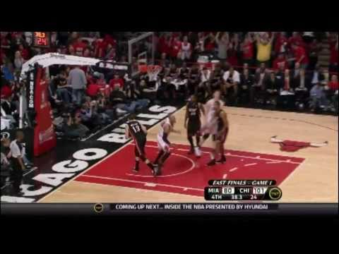 Chicago Bulls Taj Gibson Dunks on the Miami Heat - HD