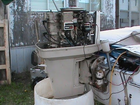 75 Hp Chrysler Outboard Lift Cyl Removal Youtube