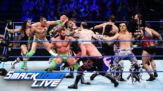 12-Man Tag Team Match: SmackDown Live, 16. August 2016